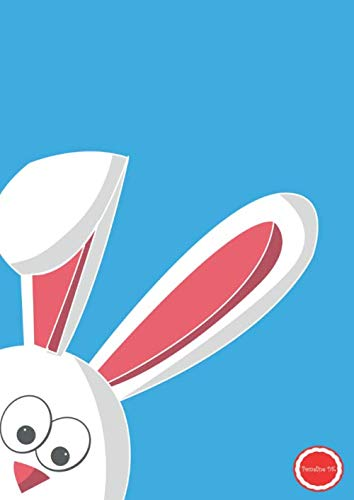 Pomeline DK: Pascaline Notizbuch A4 2100 x 2970 mm Groß Soft Cover liniert 100 seiten Geschenkidee Osterhase Hase Ostern Osterdeko Haustier Frühling Osterei Kinder