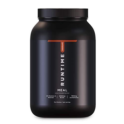 Runtime Meal - 15 Mahlzeiten | vollwertiger Mahlzeitersatz für langanhaltende Sättigung, Energie, Konzentration und Leistungsfähigkeit, mit Vitaminen und Nährstoffen (Chocolate)