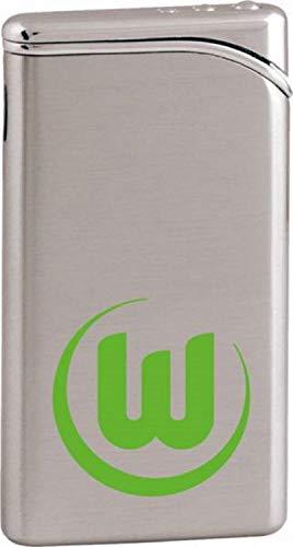 Feuerzeug mit Logo des VfL Wolfsburg. Feuerzeug ist nachfüllbar (Gas) mit elektronischer Piezozündung. 100% Original Lizenzware ein Qualitätsprodukt.