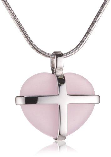 Esprit Damen-Kette CROSS MY HEART 42 CM S.ESNL90535C43