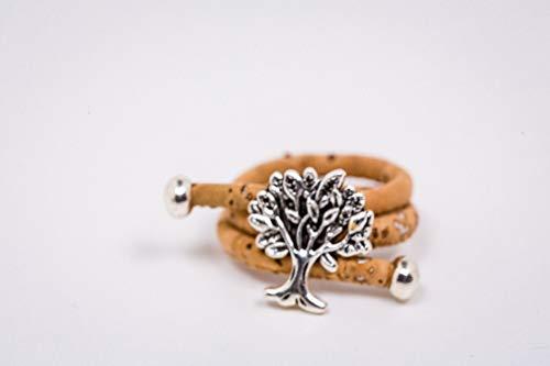 Syloschmuck  Lebensbaum  Ring  Kork  Korkschmuck  Ring aus Kork  Schmuck aus Kork Weihnachtsgeschenk Handmade Geschenk für Sie
