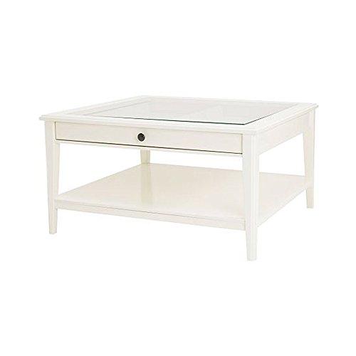 Ikea Couchtisch für Schlafzimmer, Glas, Weiß