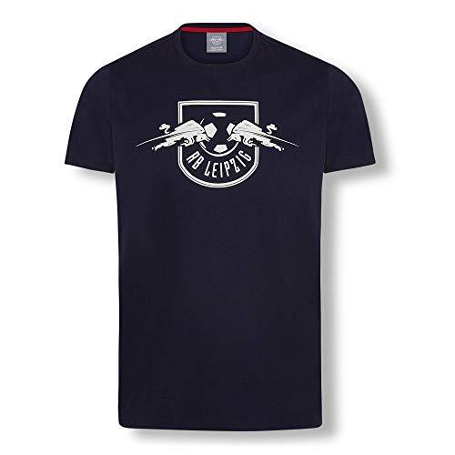 RB Leipzig Essential Mono T-Shirt, Blau Unisex XX-Large T-Shirt, RasenBallsport Leipzig Sponsored by Red Bull Original Bekleidung & Merchandise