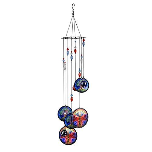 Homyl Indische Windspiel Klangspiel für drinnen und draußen, UV-Beständig & wetterfest - Baum des Lebens