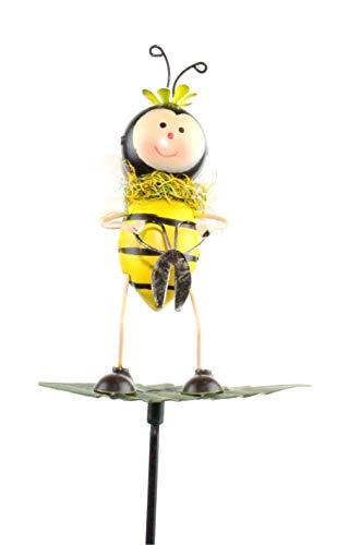 bb10 Schmuck Gartenfigur Gartenstecker Biene aus Metall 71 cm groß Beetstecker Gartendekoration