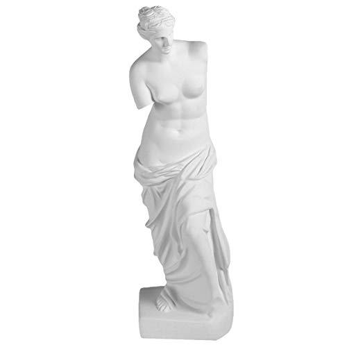 BESPORTBLE Vintage Retro Venus Statue Skulptur Harz De Milo Göttin Figur Ornament Dekofigur Marmorfigur Sammelfigur Gartenstatuen für Geburtstag Party Geschenke Tischdeko Gartendeko Braun