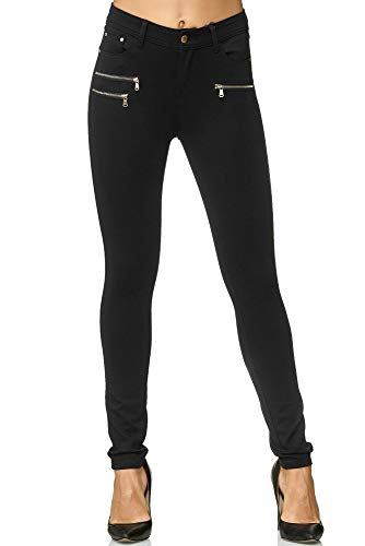 Elara Damen Stretch Hose Skinny Fit Jegging Chunkyrayan H86 40 (L)