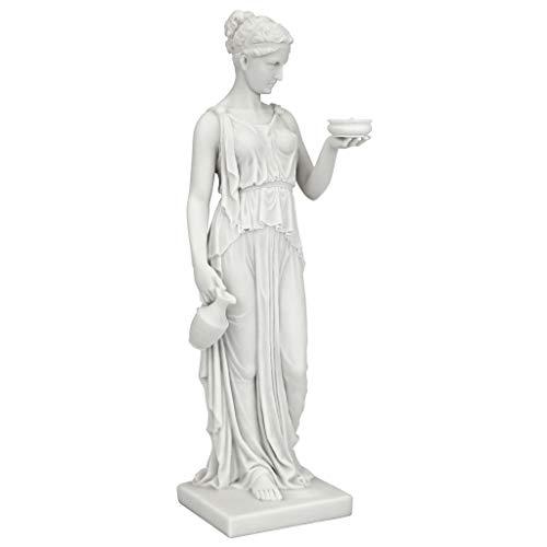 Design Toscano Göttin der Jugend - Statue aus kunstharzgebundenem Marmor, Maße: 7,5 x 10 x 29 cm