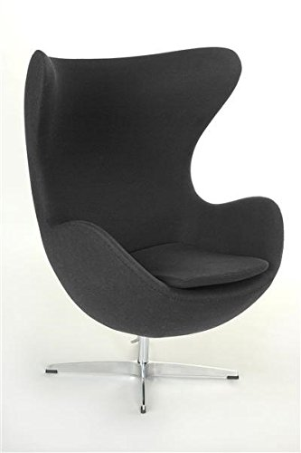 Vetrostyle Sessel Stuhl Retro DIXON EGG Gepolstert Armlehnenstuhl Design grau
