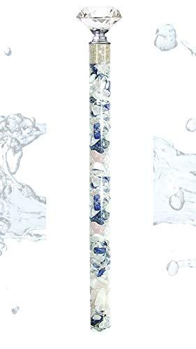 Diamond Waterstick Edelsteinstab Wasserstab Engelsmischung mit 2 Karat Rohdiamanten 25cm