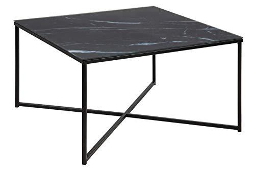 Amazon Brand - Movian Rom, Couchtisch, 80 x 80 x 45 cm, Schwarz