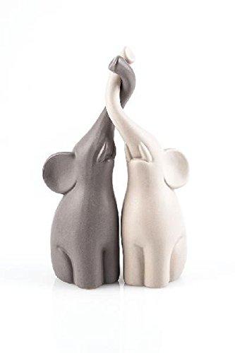 Verliebte Elefanten, Dekofigur, Dekoration im 2er Set, Höhe 25,5 cm