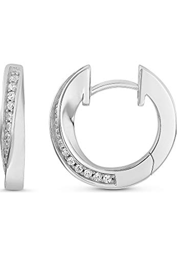 JETTE Silver Damen-Creolen 925er Silber 28 Zirkonia One Size 87525007