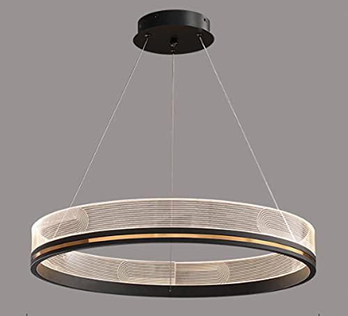 Kronleuchter Schlafzimmer,Pendelleuchte Wohnzimmer,Hängeleuchte Esszimmer,Hängelampe Küche Büro Deckenlampe,Leichte Luxus Kreative Persönlichkeit Runde Lampe 60 * 7Cm - 181 Stil