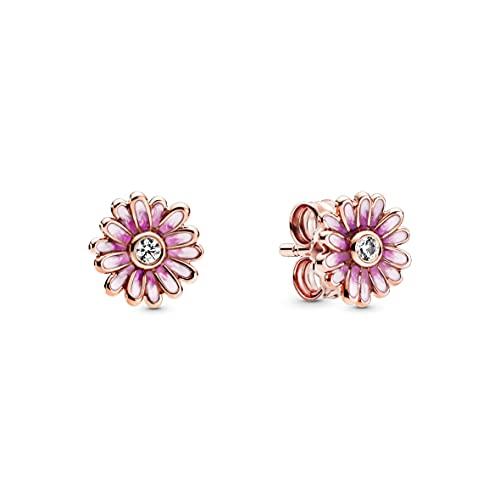 Pandora Rosafarbene Gänseblümchen Ohrringe 288773C01 Roségold 0,8cm