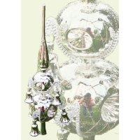 Lauschaer Glaskunst-Christbaumspitzen Christbaumspitze Old Germany-Duo (Silber)