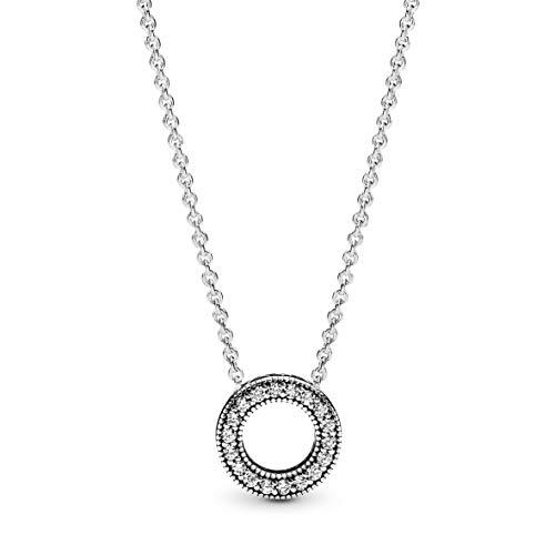 Pandora Damen Kette Sterling Silber Cubic Zirkonia 397436CZ-45