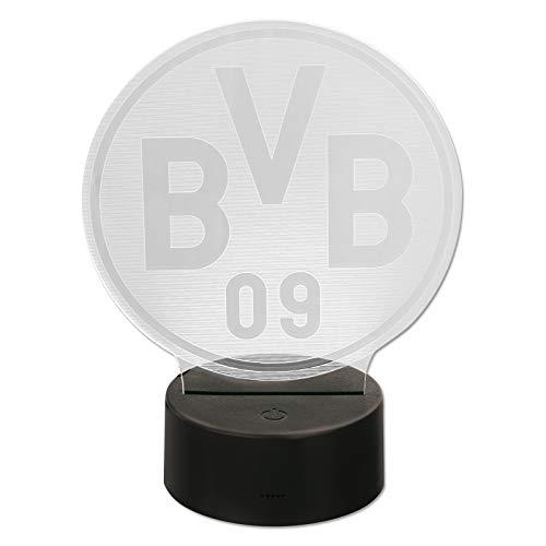 Borussia Dortmund Unisex Bvb-logoleuchte Dekoration, schwarzgelb, Einheitsgröße EU
