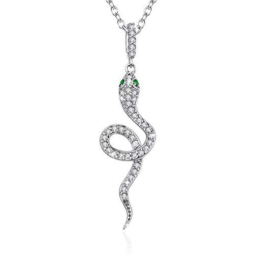 GDDX Schlangenanhänger personalisierte Halskette Sterling Silber Halskette Weihnachtsschmuck Geschenke für Frauen