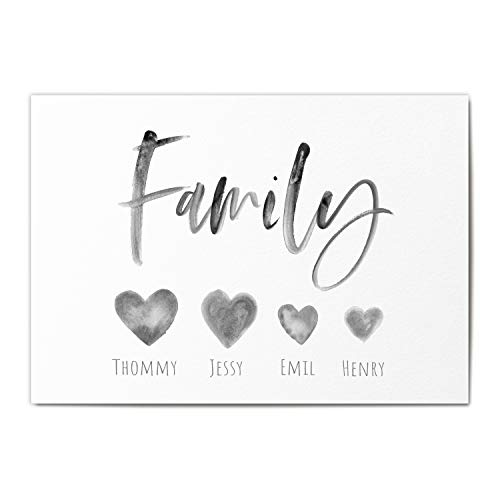 Family Poster Personalisiert Familie Name Personalisiertes Geschenk