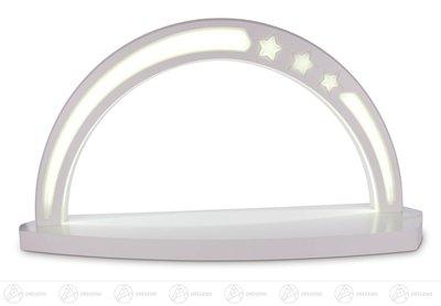 """Schwibbogen """"Sternenbogen"""" weiß ohne Bestückung, LED Beleuchtung Breite x Höhe x Tiefe 61 cmx33 cmx15 cm NEU Erzgebirge Lichterbogen Fensterbild*"""