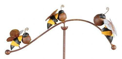 Windspiel für den Garten - Motiv: Biene - Länge 100cm - Hochwertiger Gartenstecker