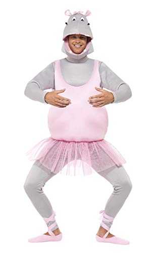 Smiffys, Unisex Ballerina Nilpferd Kostüm, Schaumstoff-Bodysuit, Kopfbedeckung, Hose und Schuhüberzieher, Größe: One Size, 43393