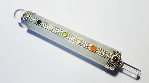 7 Chakra Bergkristall Energiestab Healing Stick rund