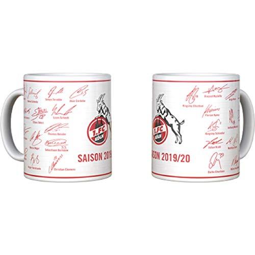 1. FC Köln Kaffeebecher/Tasse ** Unterschriften 2019/2020 **