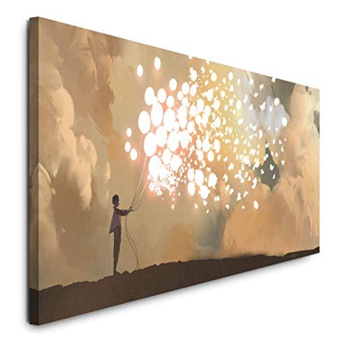 Paul Sinus Art GmbH Malerei 120x 50cm Panorama Leinwand Bild XXL Format Wandbilder Wohnzimmer Wohnung Deko Kunstdrucke