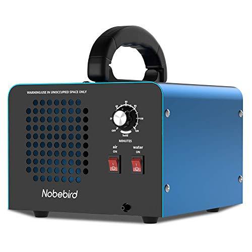 Nobebird Ozongenerator-Luftreiniger, 28.000 mg/h Ozon-Luftreiniger/Deodorant mit Luft/Wasserreinigungsmodi und 120-Minuten-Timer, reinigt bis zu 300㎡