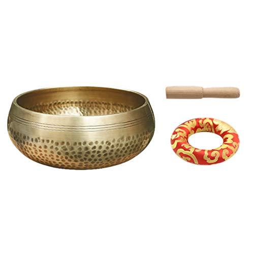Moligh doll Nepal Handgemachte Kupfer Buddha Tibet SchüSsel Ritual Musik Therapie Glocken Spiel Tibetan Klang Schale Buddhistisches üBung Ger?T 15Cm
