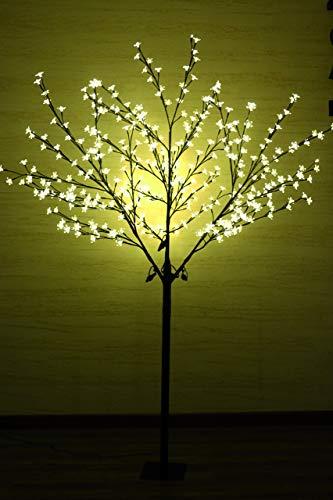 LED Blütenbaum mit 400 LEDs beleuchtet, 180 cm, warm-weiß, Lichterzweig, Kirschblütenbaum, Lichterbaum, LED-Baum für Innen- und geschützten Außenbereich (180 cm mit 400 LED)