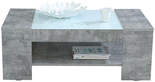 FORTE  Couchtisch mit Ablage, Holz, beton, 120 x 71 x 45 cm
