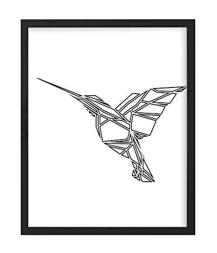 Postergaleria Bilderrahmen | 40x50 | Schwarz | Holz | Plexiglas | 8 Farben | 10 Größen | Posterrahmen | Fotorahmen