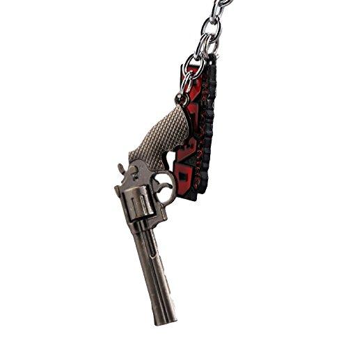 The walking dead keyring pistol heavy metal keychain