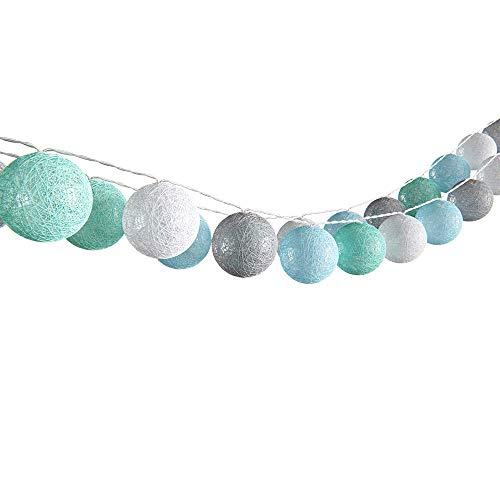 VICCO Lichterkette Cotton Balls Girlande verschiedene Farbvarianten erhältlich 310 cm