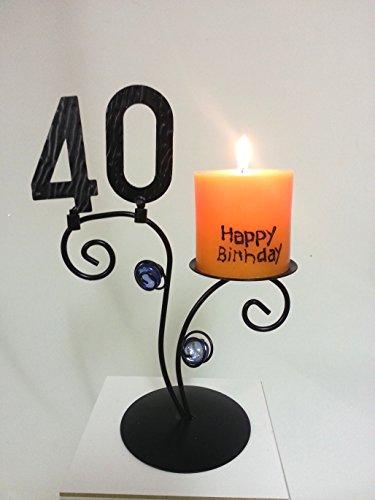 Leuchter Happy Birthday (40. Geburtstag)