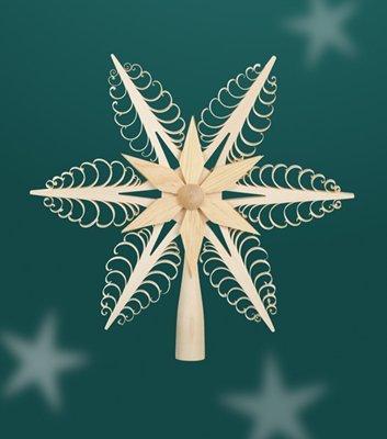 Christbaumspitze - Weihnachtsbaumspitze – Baum – Holz – Spitze – Baumspitze – Weihnachten – 24cm - Erzgebirge NEU*