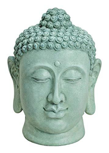 Worldconnection XXL Buddha Kopf Head Figur Steinfigur Skulptur Bali Garten Höhe ca.50cm Feng Shui Gartendeko