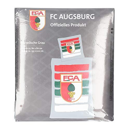 FC Augsburg Bettwäsche 135x200cm Grau