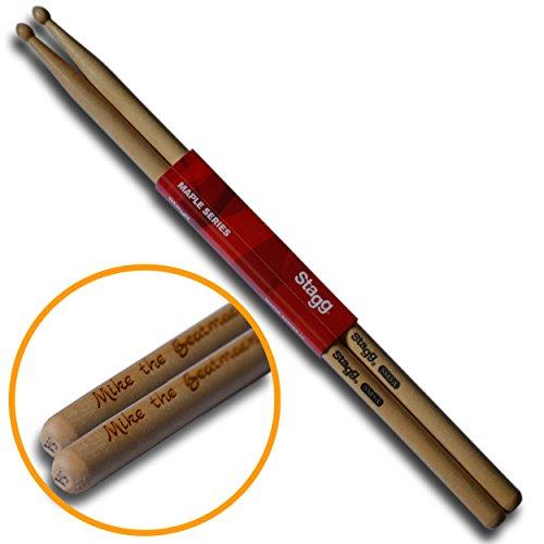 Original STAGG Drumsticks 5A personalisiert mit deiner Wunschgravur | Das Geschenk für Drummer, Schlagzeuger und Trommler