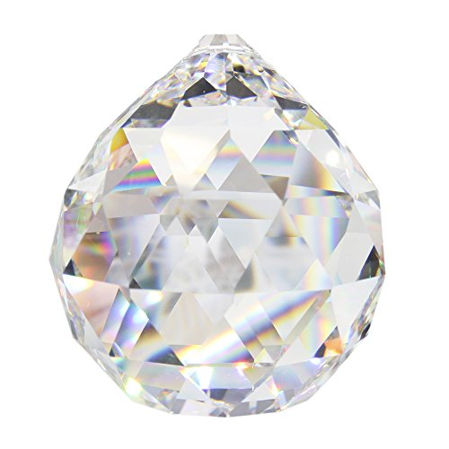 4 Stück Kristall-Kugel ø 40 mm 30% Bleikristall Regenbogenkristall zum aufhängen Fensterdeko Feng Shui Kristall-Glaskugel