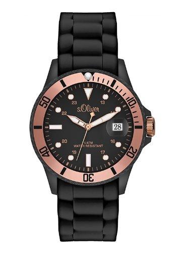 s.Oliver Damen-Armbanduhr Analog Quarz Silikon SO-2549-PQ