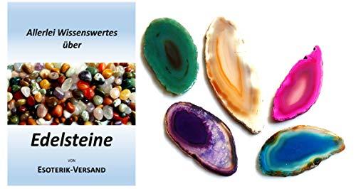 Esoterik-Versand Edelstein-Anhänger, fünf farbige Achatscheiben, incl. 36seitige Broschüre