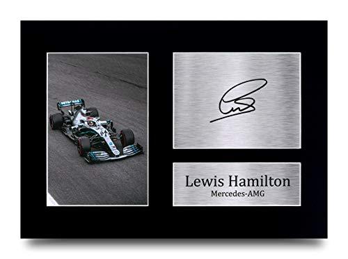 HWC Trading Lewis Hamilton A4 Ungerahmt Signiert Gedruckt Autogramme Bild Druck-Fotoanzeige Geschenk Für F1 Formel Eins Fans