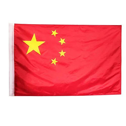 China Flag 3x5ft / 90x150cm große chinesische Nationalflagge mit Canvas-Header und Messing Tüllen für Parades Bar Schulsport Events Festival Feste Home Office Decor