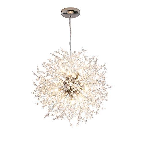 Dellemade Sputnik Kronleuchter 12-Licht Vintage Pendelleuchte für Esszimmer, Wohnzimmer, Küche, Büro, Café, Restaurant