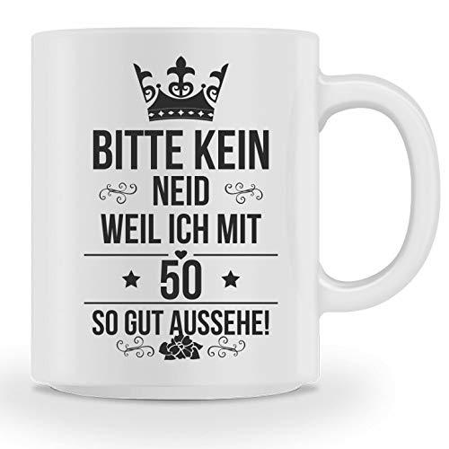 Galeriemode Tasse zum 50 Geburtstag Geschenk für Mann Frau Scherzartikel