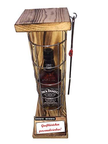'Personalisierbar mit Ihrem Wunschtext' Die Eiserne Reserve mit Jack Daniel's 0,70L lustige Geschenk mit individuellem Text